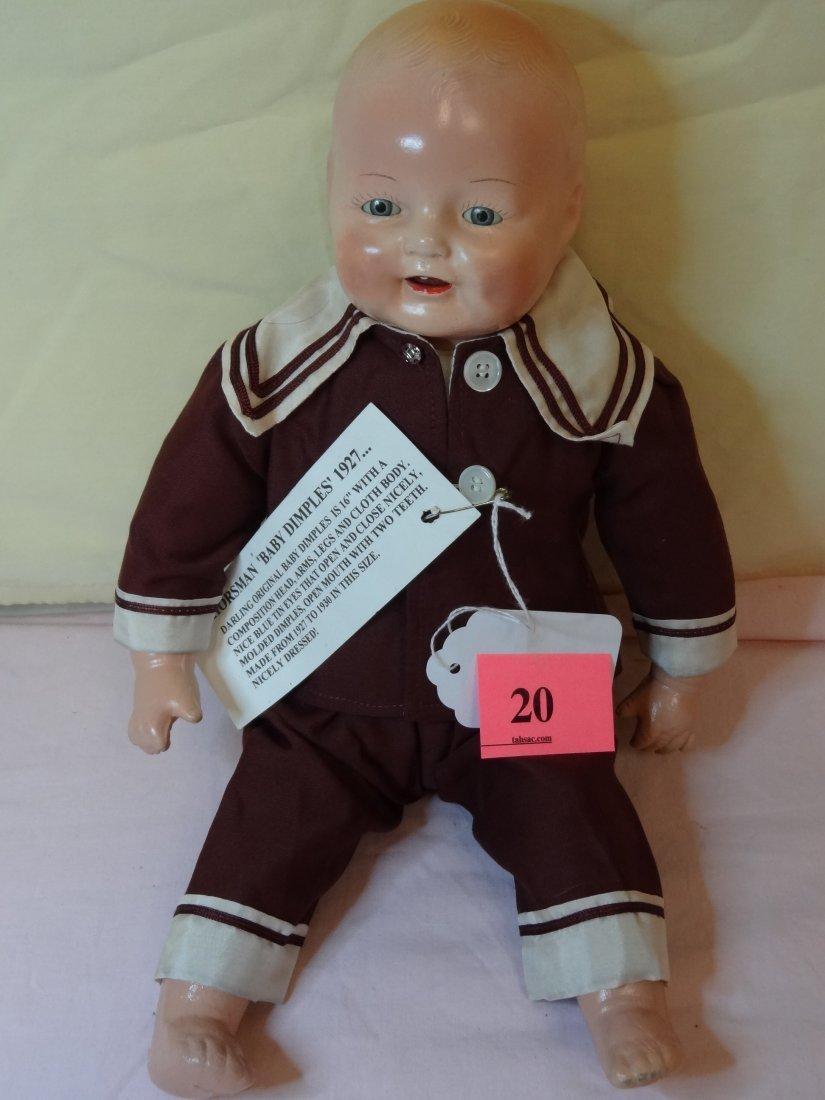 20: 16'' HORSMAN ''BABY DIMPLES'' COMPOSITION HEAD, ARM