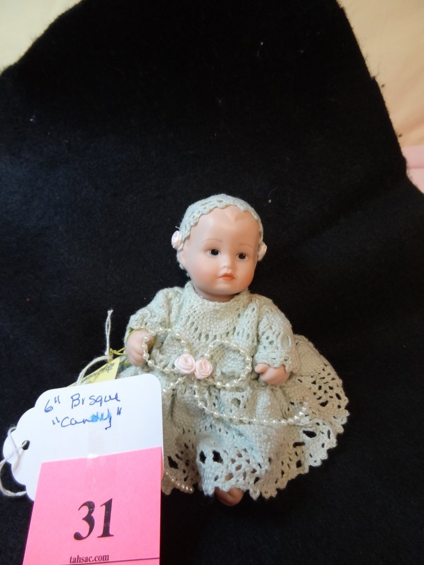 31: ''NEW WITH TAG'' 6'' ALL BISQUE DOLL ''CANDY''