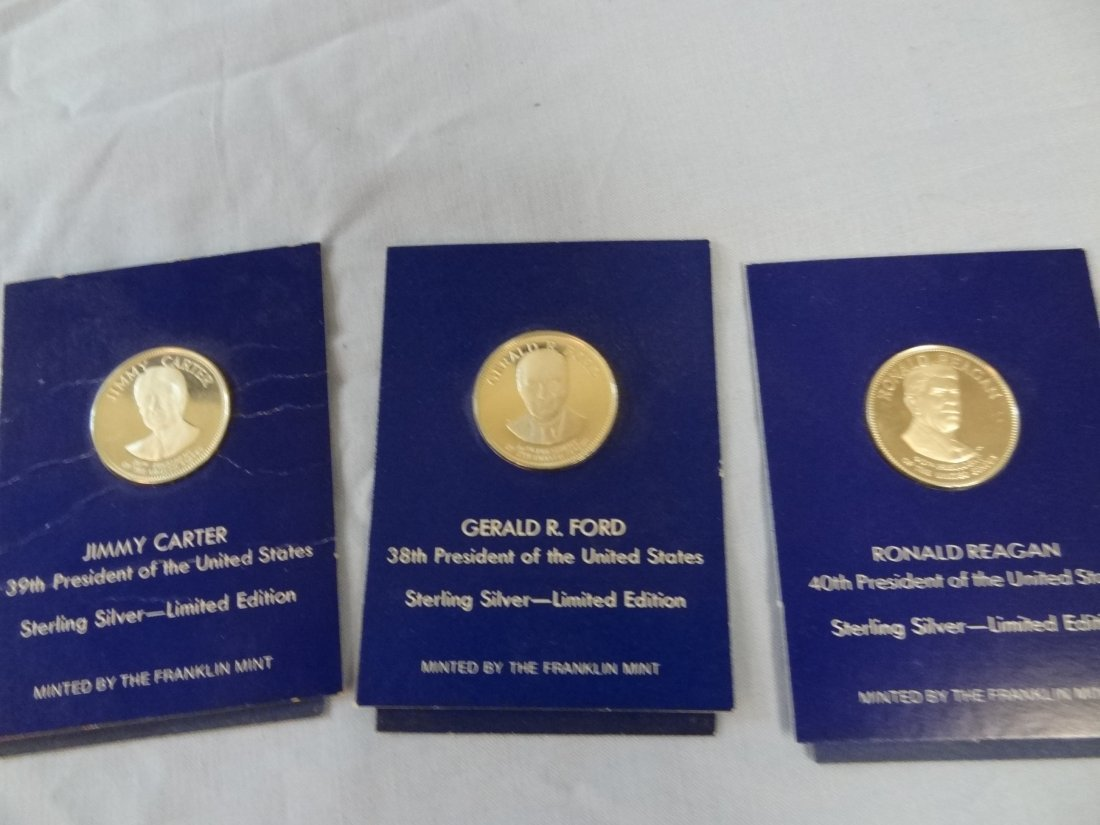 SET OF THREE STERLING SILVER LIMITED EDITION PRESIDENTI
