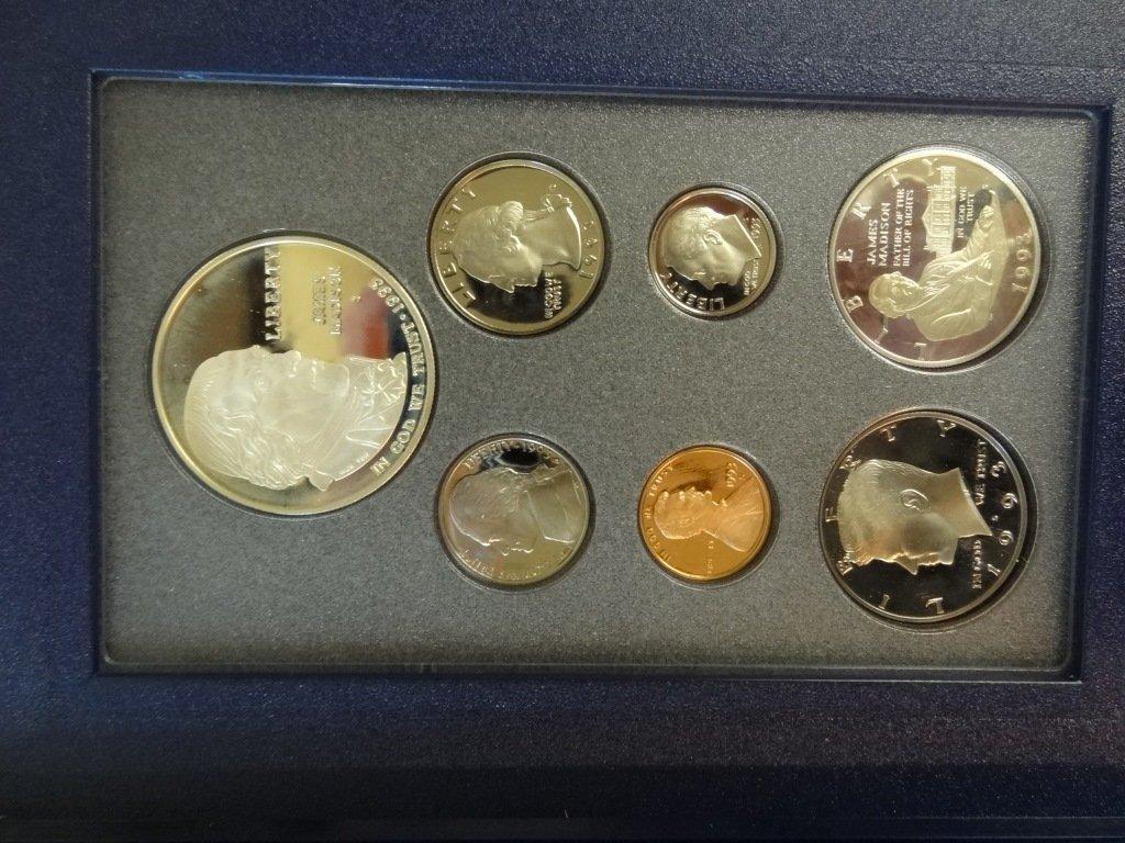 1993 BILL OF RIGHTS COMMEMORATIVE COINS PRESTIGE SET DE