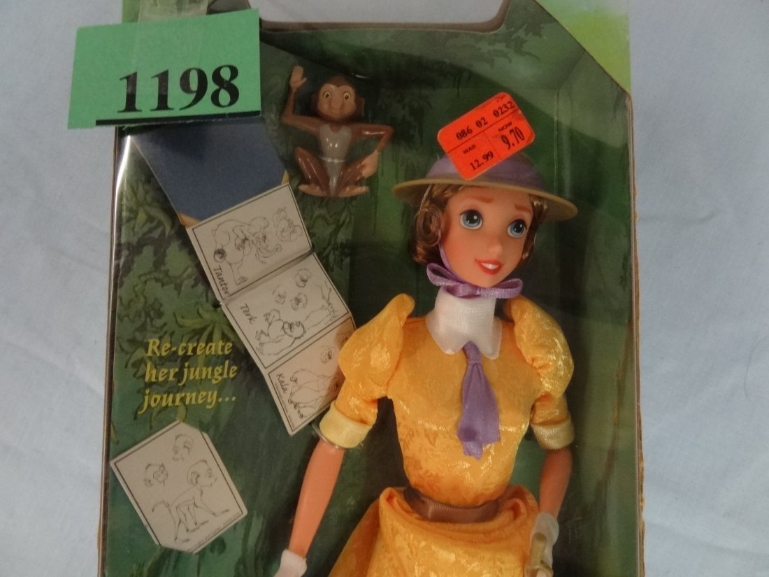 DISNEY'S TARZAN PRESENTS ''JANE'' DOLL. INCLUDES FUN AC - 2