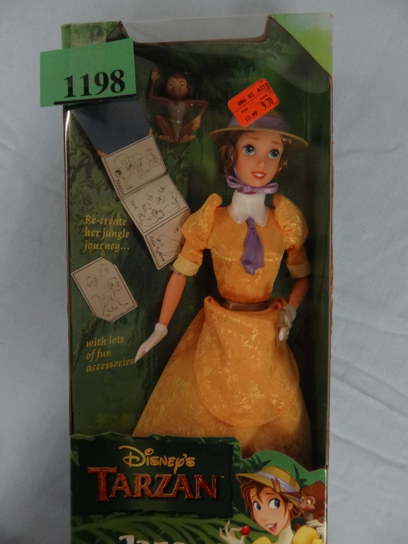 DISNEY'S TARZAN PRESENTS ''JANE'' DOLL. INCLUDES FUN AC - 3