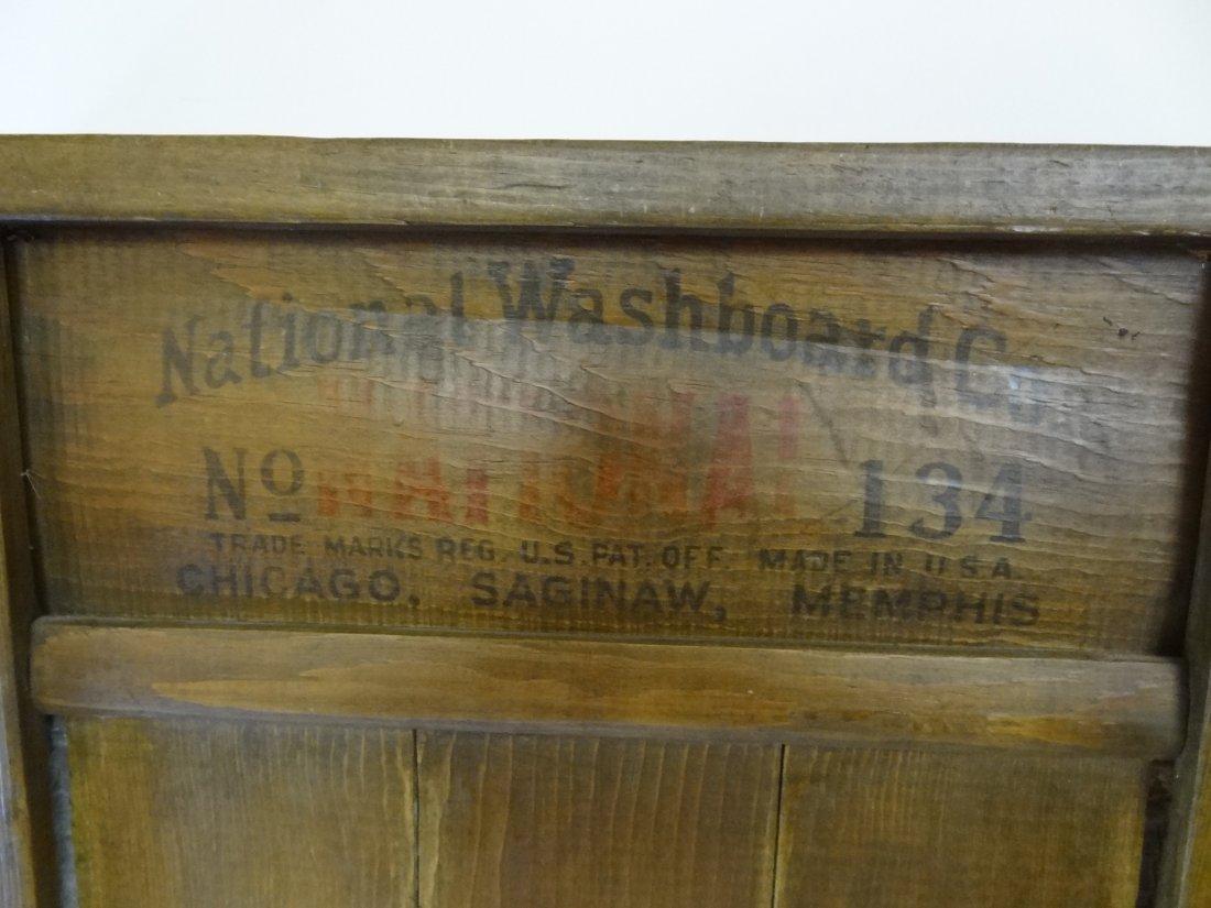 NATIONAL WASHBOARD CO. NO. 134 WASHBOARD.26 1/2'' TALL  - 2