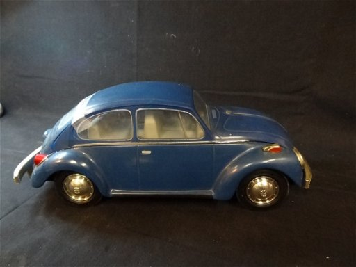 1973 BLUE VW BUG DECANTER, BEAM 100 MONTH OLD KENTUCKY