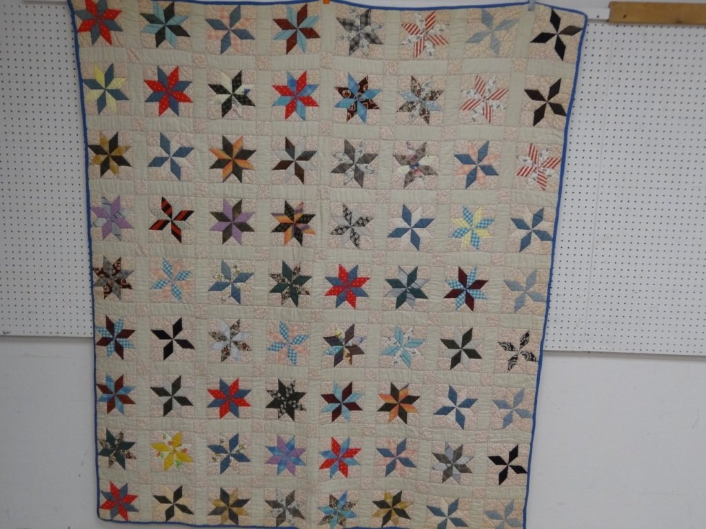 QUILT STAR PATTERN COTTON BACKED  67 1/2'' X 79'', 1930