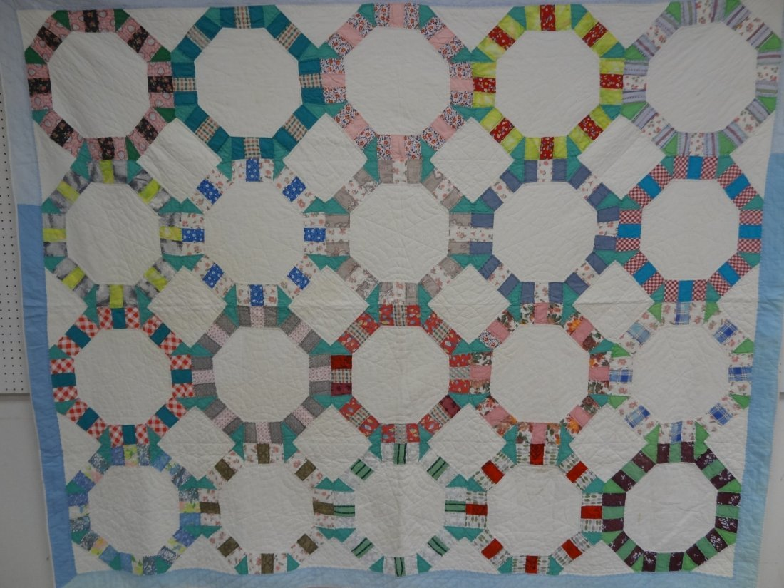 QUILT, FREE STYLE, HAND PIECED AND QUILTED, 100