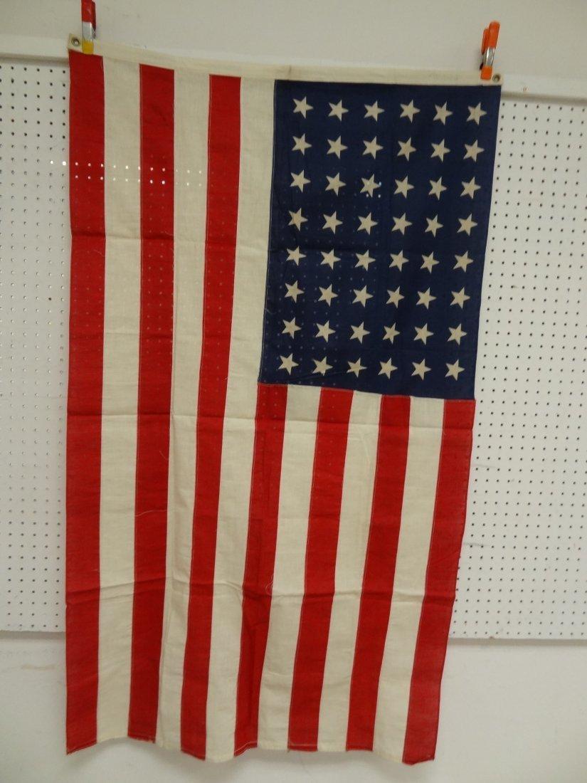 48 STAR FLAG VINTAGE USA AMERICAN  ''PREMIER'' STAMPED
