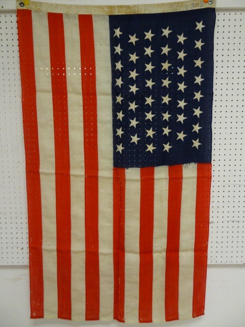 46 STAR FLAG VINTAGE USA AMERICAN  ''STANDARD'' SIGNATU