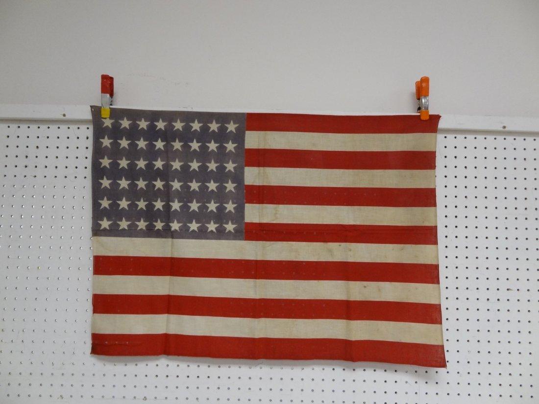 48 STAR FLAG VINTAGE USA AMERICAN , 34'' X 24''