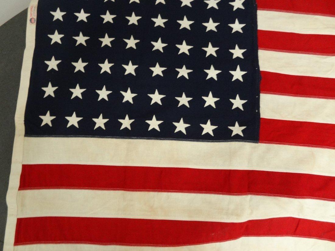48 STAR FLAG VINTAGE USA AMERICAN  3' X 5', HAS AGE STA