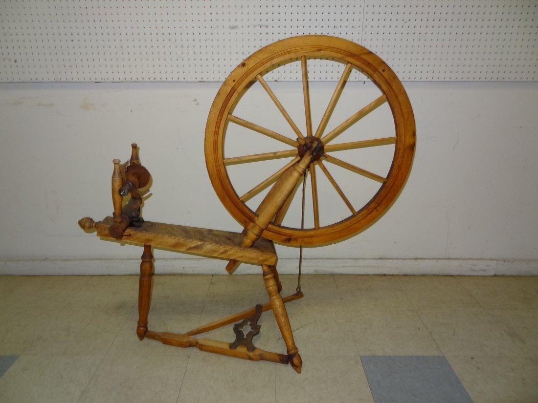 ANTIQUE SPINNING WHEEL, LATE 1800'S, DES JARDINS LIMITE