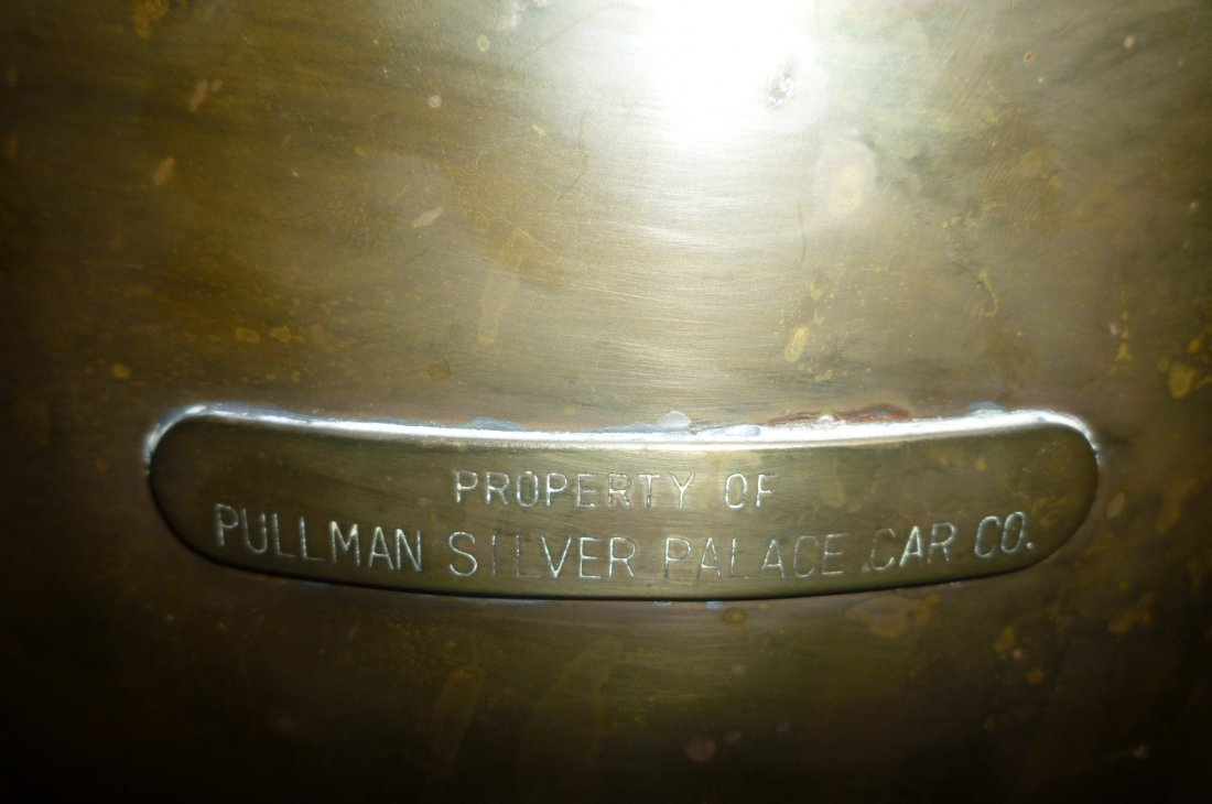 COPPER CHAMBER POT MARKED ''PROPERTY OF PULLMAN SILVER - 2