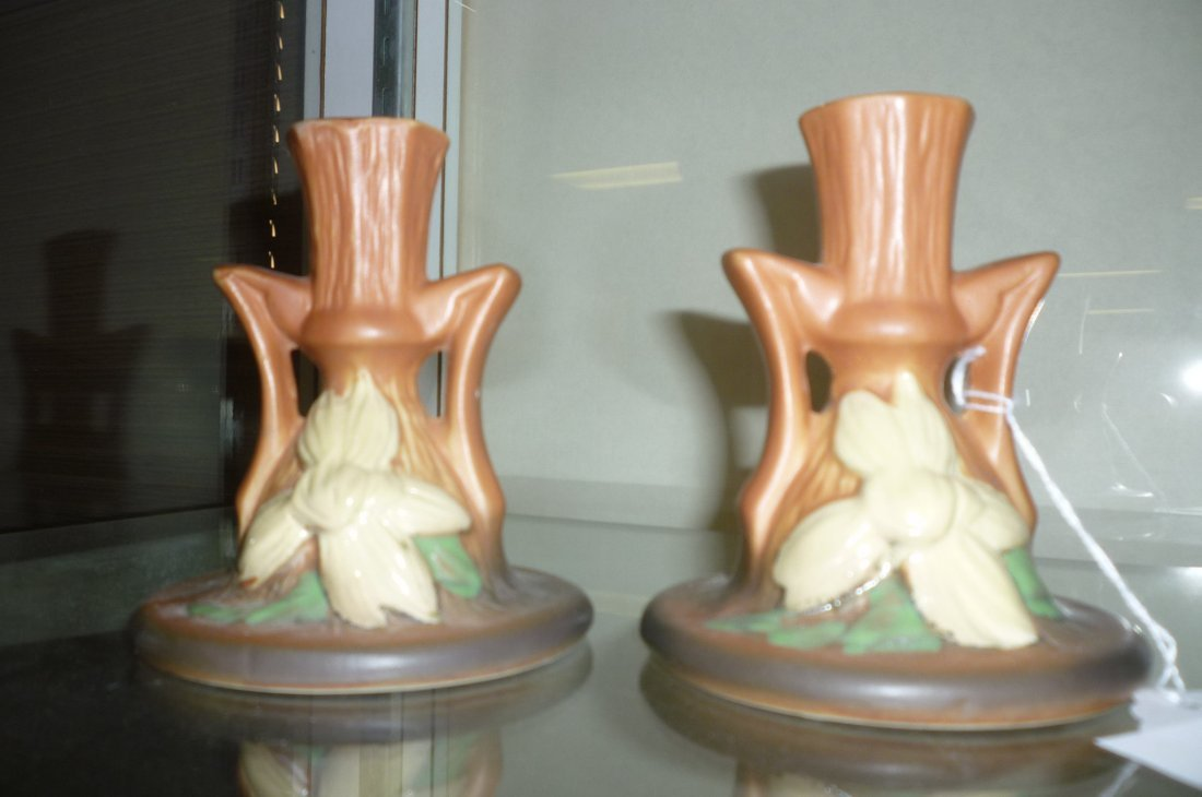 PAIR OF ROSEVILLE CANDLE STICKS #1159-416