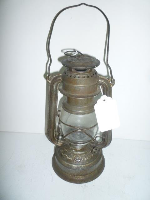 LANTERN FEUERHAND JENA ER GLAS MADE IN GERMANY DAMAGE T