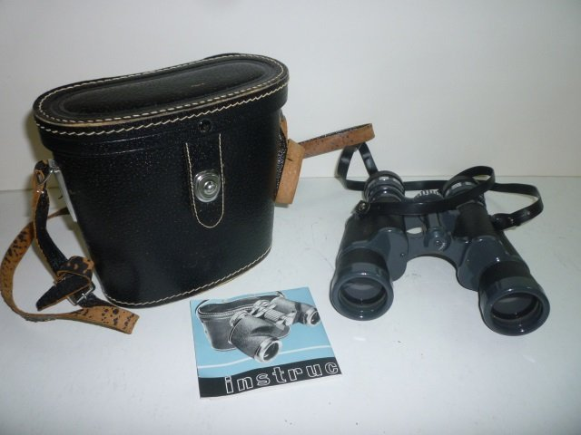 JASON BINOCULARS WITH LEATHER CASE: 7 X 35. COATED LENS