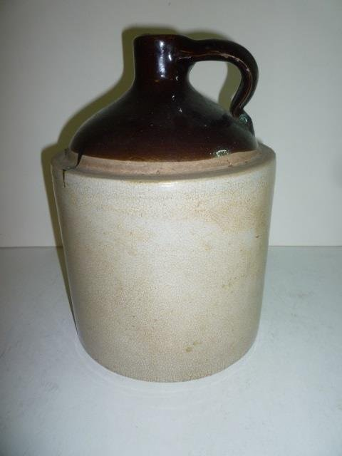 STONEWARE WHISKEY JUG 10'' TALL X 7'' WIDE