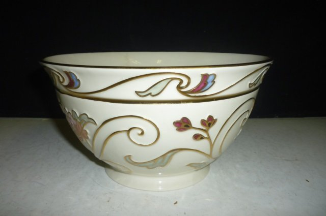 LENOX BOWL: GILDED GARDEN MEDIUM BOWL, WITH BOX