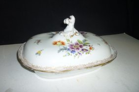 MEISSON SERVING DISH WITH COVER: LIDDED SERVING DISH WI