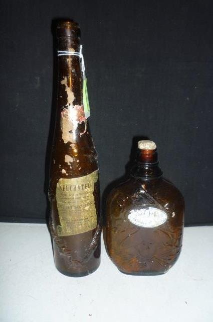ANTIQUE BOTTLES: NEUCHATEL AND PAUL JONES WHISKEY NEUCH
