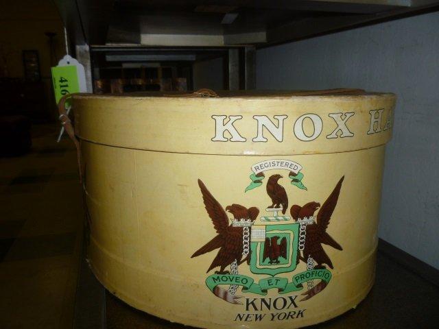 VINTAGE HAT BOX: MOVEO ET PROFICIO KNOX NEW YORK. - 2