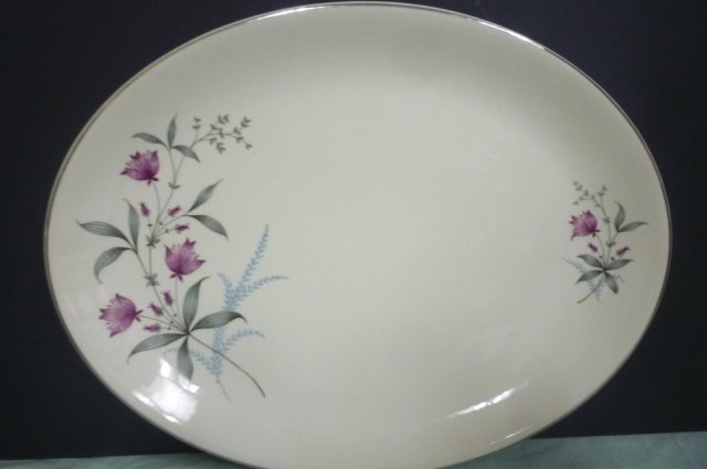 PLATTERS BY CANONSBURG POTTERY CO. 9 ALLEGHENY WARE