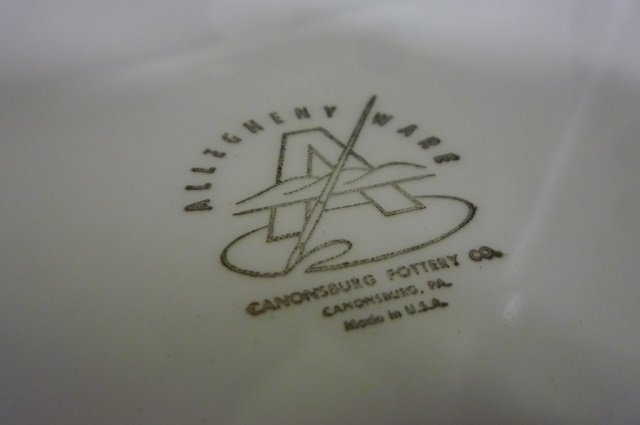 PLATTERS BY CANONSBURG POTTERY CO. 9 ALLEGHENY WARE - 2