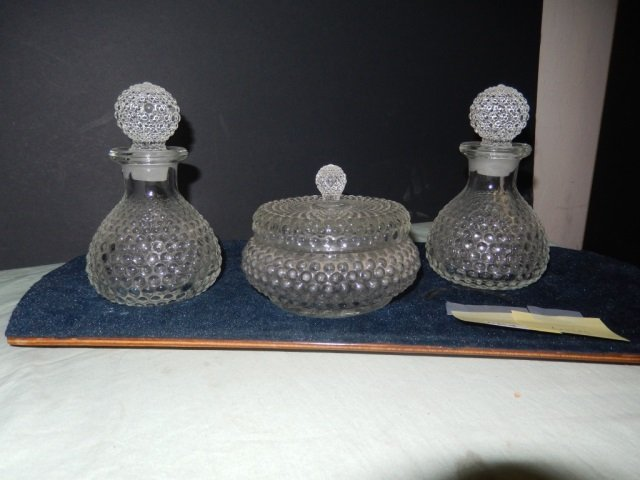 3 HOBNAIL PIECES LOT OF 3 HOBNAIL GLASS PIECES INCLUDES