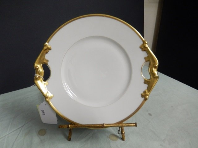 LIMOGES PLATE LIMOGES PLATE WITH GOLD TRIM. MARKED