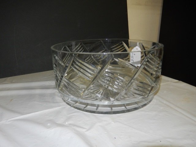"""CRYSTAL BOWL LAGRE CRYSTAL BOWL. APPROX 6"""" TALL AND 12"""""""
