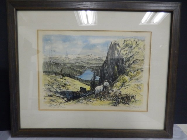 GEORGE MATHIS LIMITED EDITION LISTED CALIFORNIA ARTIST