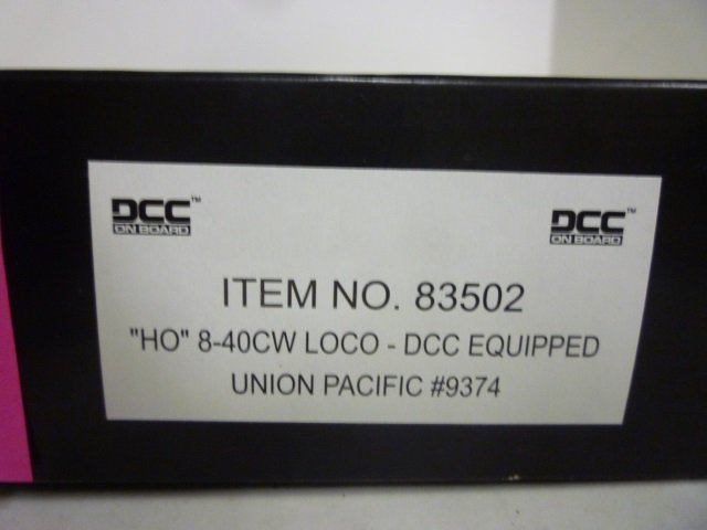"LOCOMOTIVE: SPECTRUM ""HO"" 8-40CW LOCO - DCC EQUIPPED,"