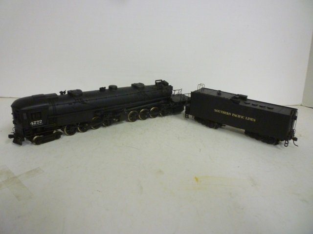 LOCOMOTIVE: ENGINE AND TENDER BLACK SOUTHERN PACIFIC