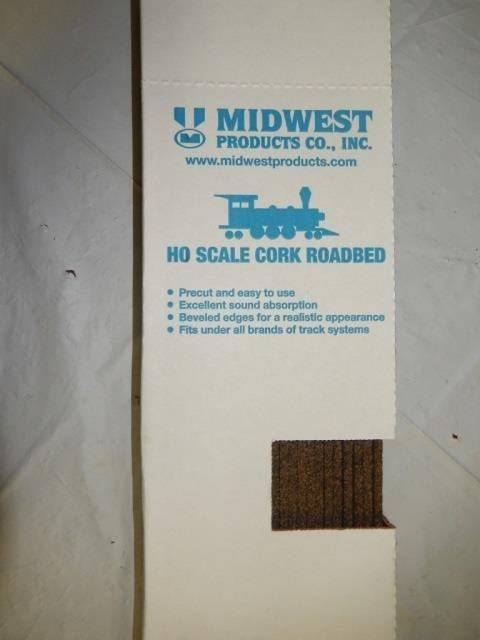 MIDWEST PRODUCTS CO. INC HO SCALE CORK ROADBED CORK