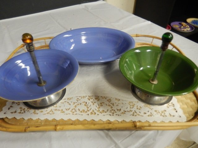 FIESTA LIKE PIECES LOT INCLUDES 2 CANDY DISHES AND 1