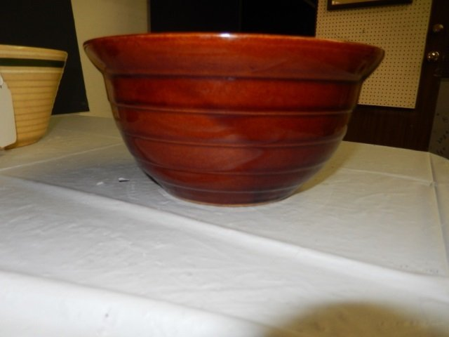 MAR-CREST OVEN PROOF STONEWARE BROWN GLAZE. IN