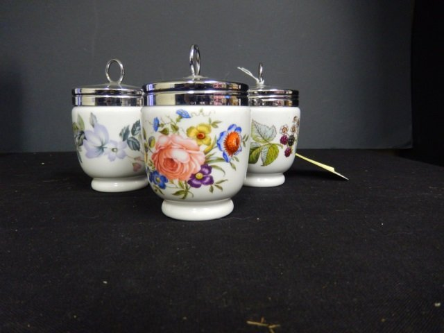 """3 ROYAL WORCESTER EGG CODDLERS EACH ONE MARKED """"ROYAL"""