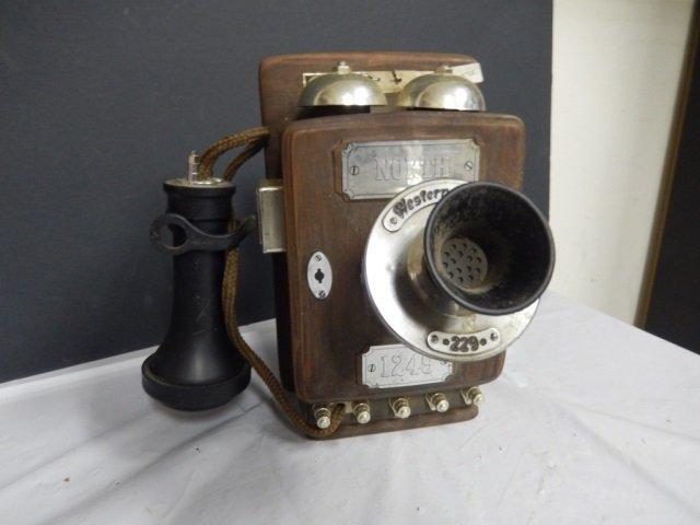 "DON WIDDERS TELEPHONE LIQUOR BOTTLE circa 1932 ""WESTERN"