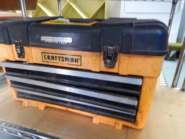 CRAFTSMAN TOOL BOX HARLEY-DAVIDSON FILLED WITH MISC.