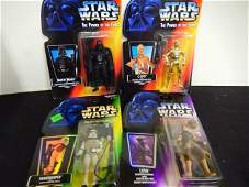 4 STAR WARS POWER OF THE FORCE ACTION FIGURES