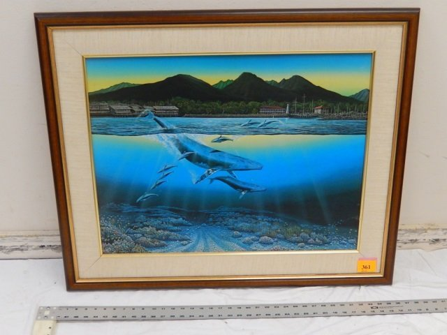 ROBERT L NELSON WHALE PAINTING
