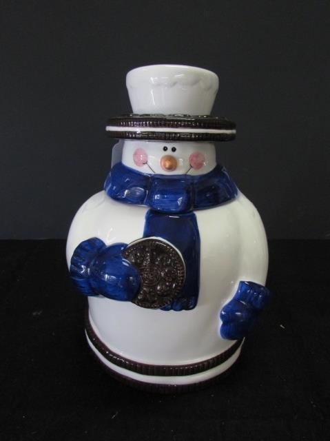 OREO SNOWMAN COOKIE JAR