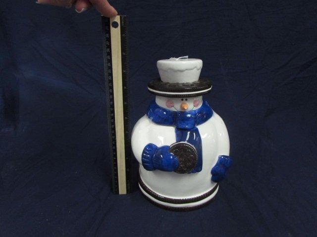 OREO SNOWMAN COOKIE JAR - 2