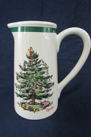 SPODE   PITCHER 7 IN TALL CHRISTMAS PITCHER