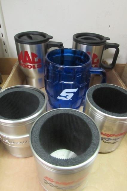 SNAP-ON & MAC TOOLS COFFEE MUGS (6) 2 MATCHING MAC