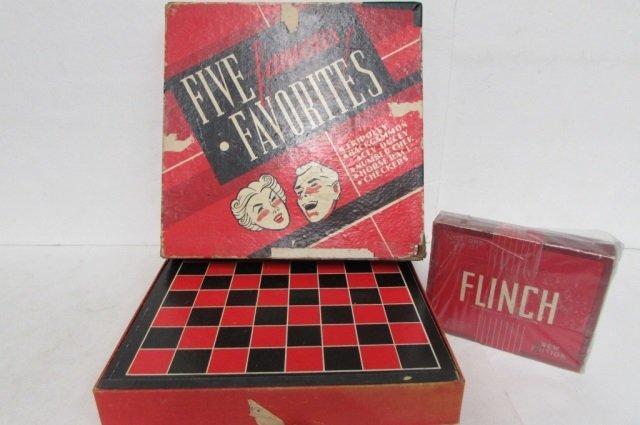 4 VINTAGE GAMES GAME OF RIDDLES QUIZ-ME, FLINCH, VOLUME - 3