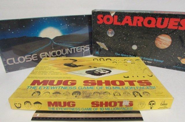 3 VINTAGE BOARD GAMES CLOSE ENCOUNTERS, SOLARQUEST, &