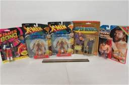 ASSORTED VINTAGE ACTION FIGURES 5 ALL ARE IN ORIGINAL