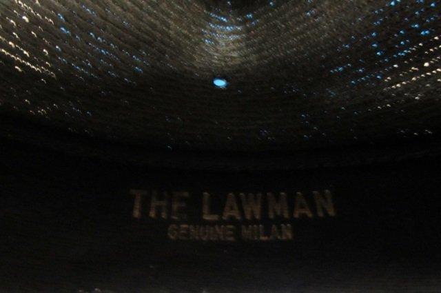 THE LAWMAN HAT MEN'S HAT, GENUINE MILAN, STIFF WOVEN - 5