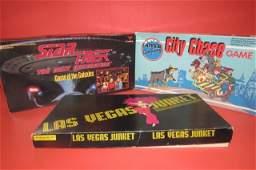 3 VINTAGE BOARD GAMES LAS VEGAS JUNKET GAME, CITY CHASE