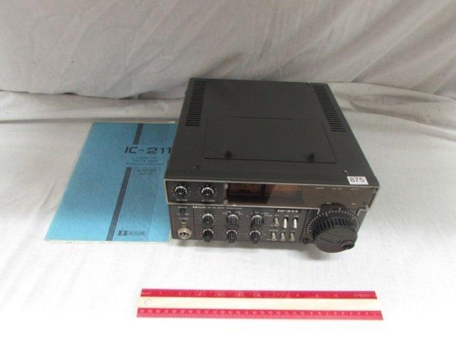 ICOM RADIO TRANSCEIVER WITH MANUAL IC 211 ICOM RADIO